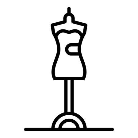 Icono de soporte de maniquí moderno, estilo de contorno