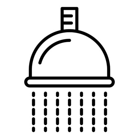 Hair shower icon, outline style