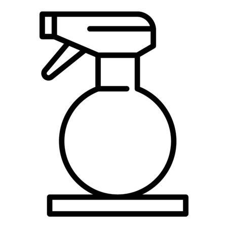 Water hair spray icon, outline style