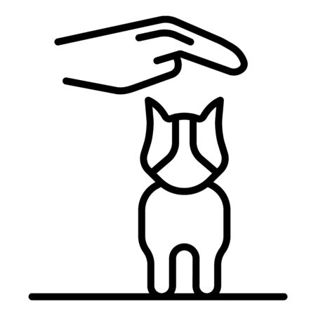 Care puppy dog icon, outline style
