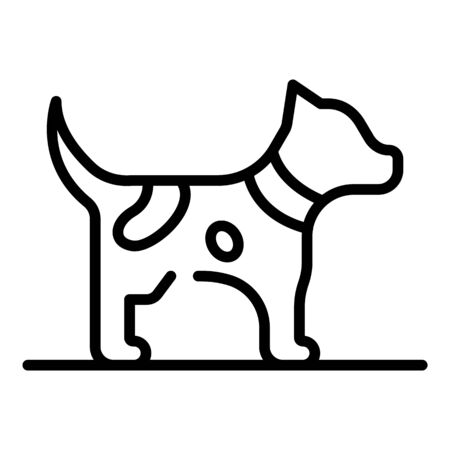Puppy dog icon, outline style