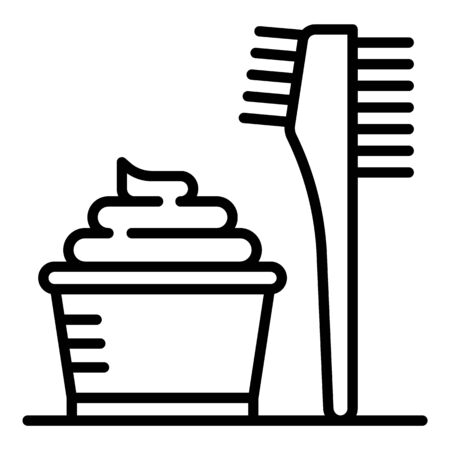 Hair coloring cream icon, outline style