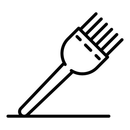 Metal hair brush dye icon, outline style