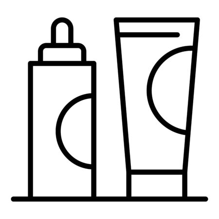 Hair dye cream tube icon. Outline hair dye cream tube vector icon for web design isolated on white background