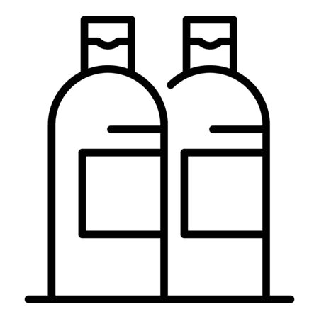 Shampoo bottles icon, outline style