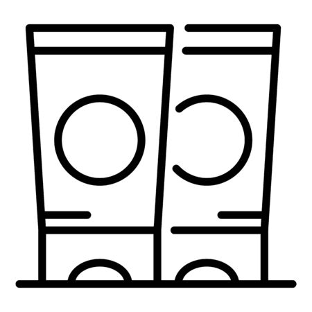 Hand cream tubes icon, outline style Ilustração
