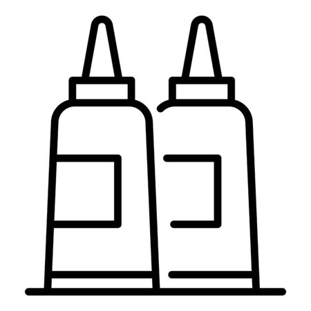 Conditioner hair bottle icon. Outline conditioner hair bottle vector icon for web design isolated on white background
