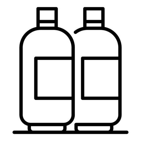 Gel hair bottle icon, outline style Ilustracja