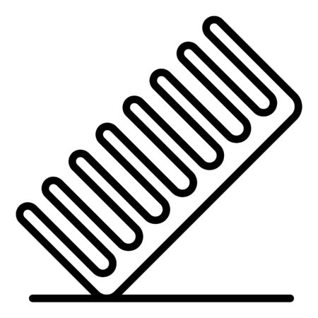 Pet comb icon, outline style  イラスト・ベクター素材