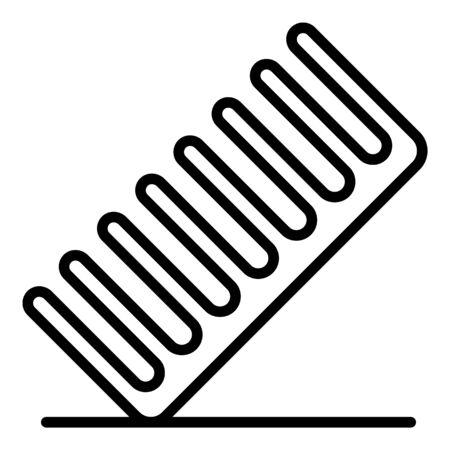 Pet comb icon, outline style Çizim