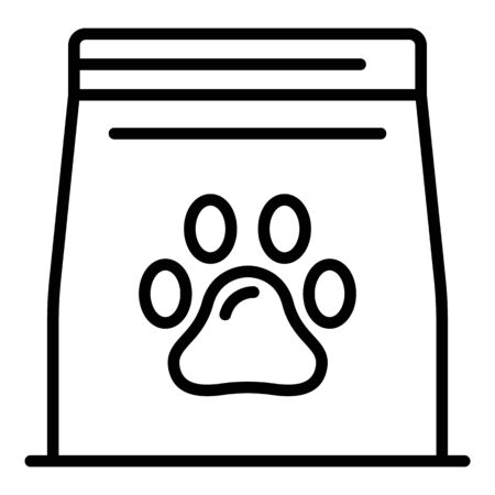 Pet food package icon, outline style Standard-Bild - 129993037