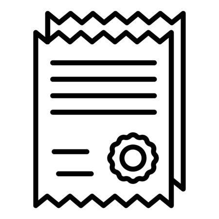 Pet diplom icon, outline style
