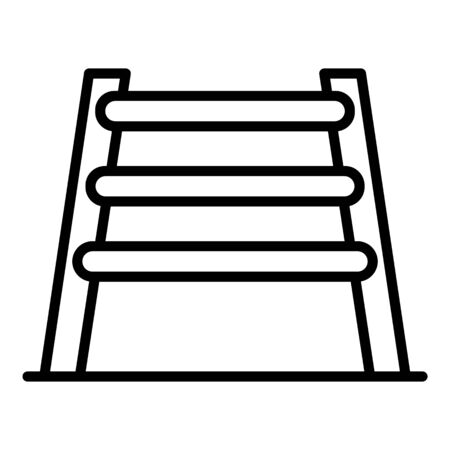 Pet barrier icon, outline style