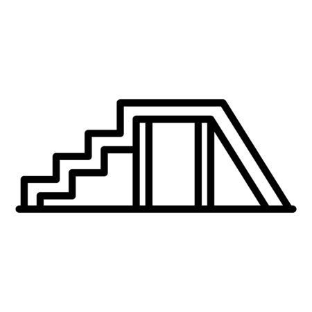 Dog training stairs icon, outline style Illustration