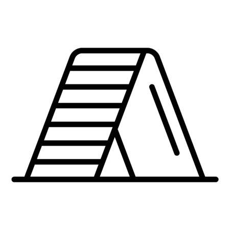 Dog training wall icon, outline style Иллюстрация