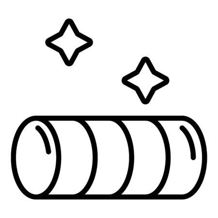 Icône de tunnel de dressage de chiens, style de contour