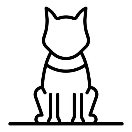 Sit dog icon, outline style Illustration