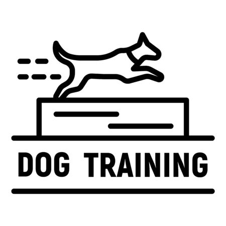 Dog training  outline style