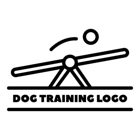 Swing for dog training   outline style Stock Illustratie