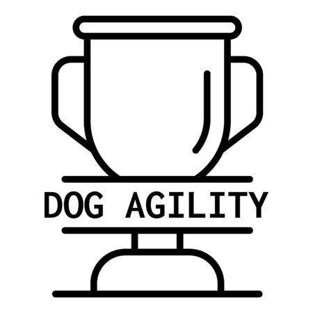 Dog agility cup  outline style Standard-Bild - 130007665