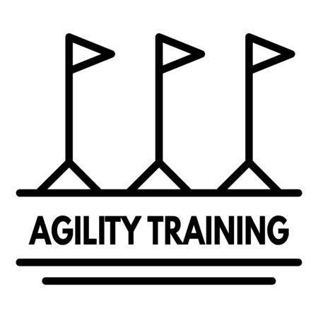 Agility training   outline style Illustration