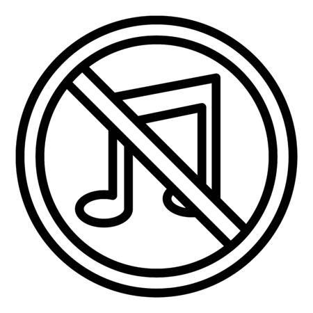 Strikethrough note icon, outline style