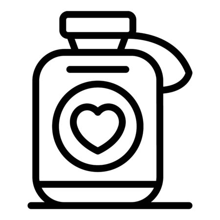 Heart medication icon, outline style