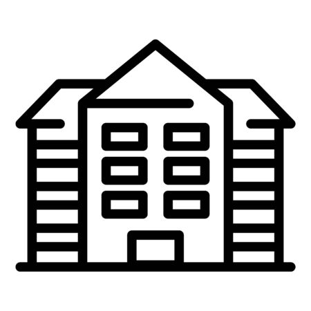 Hospital building icon, outline style