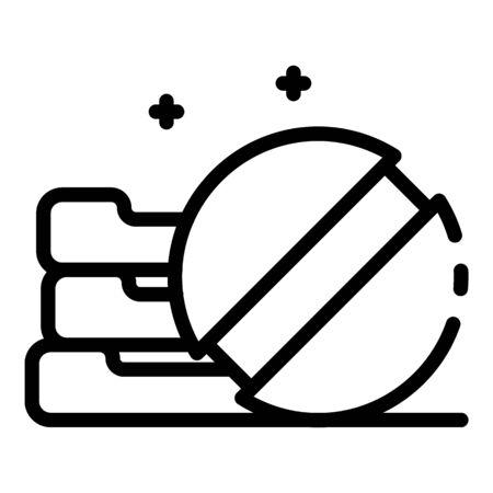 Stack of pills icon, outline style Ilustração