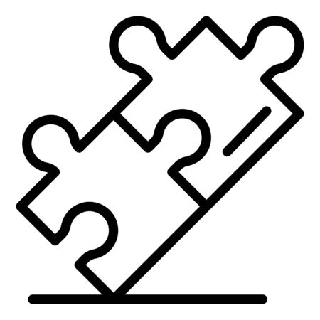 Puzzles icon, outline style Иллюстрация
