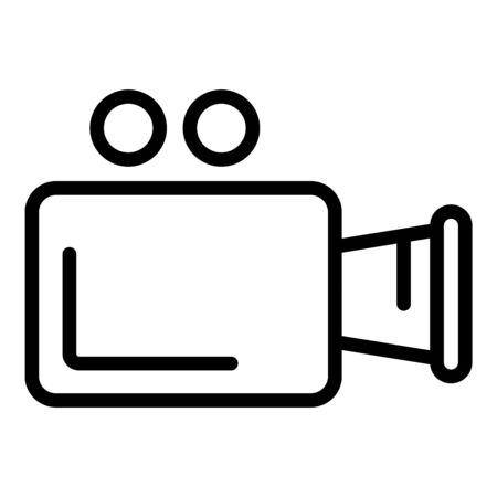 Video camera icon. Outline video camera vector icon for web design isolated on white background Ilustracja