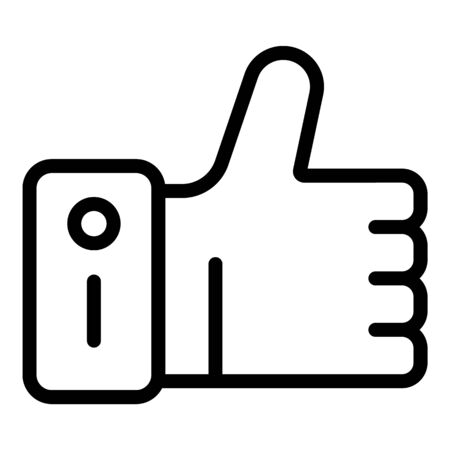 Like hand icon, outline style Ilustrace
