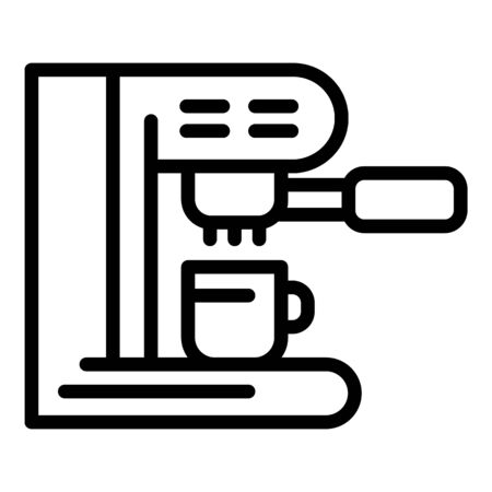 Coffee machine side view icon, outline style