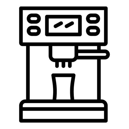 Coffee machine front icon, outline style