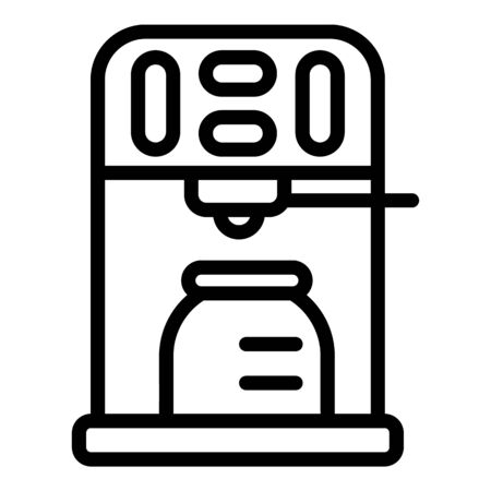 Coffee machine with a can icon, outline style