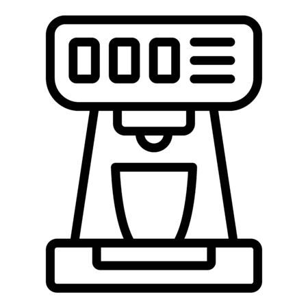 Home coffee machine icon, outline style Banque d'images - 130006535