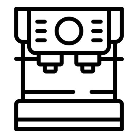 High class coffee maker icon, outline style
