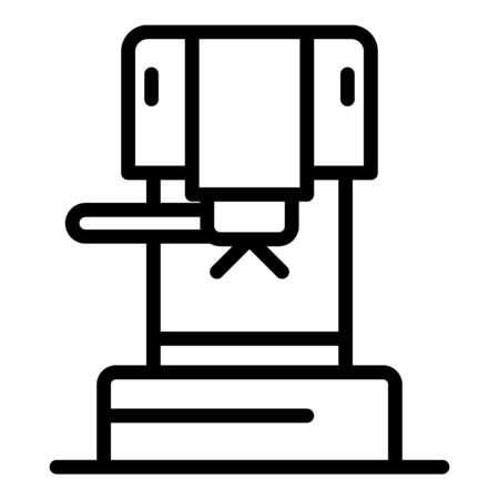Mini coffee maker icon, outline style