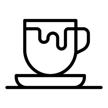 Cup of cappuccino icon. Outline Cup of cappuccino vector icon for web design isolated on white background