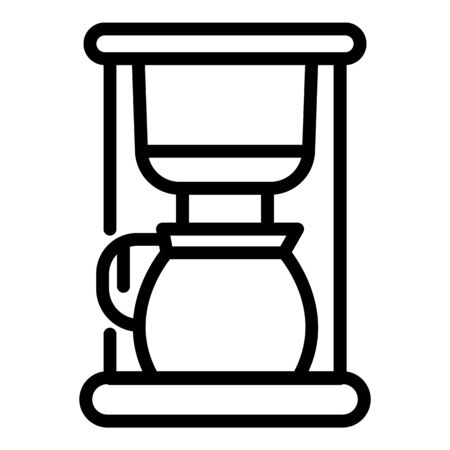 Domestic coffee machine icon, outline style Banque d'images - 130005821