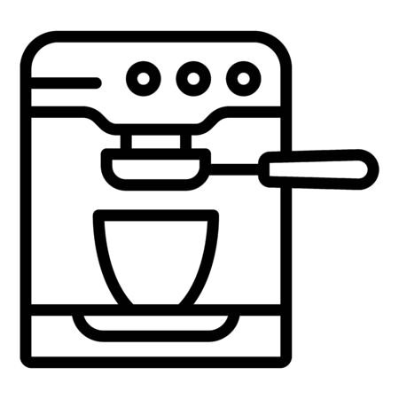 Home coffee maker icon, outline style