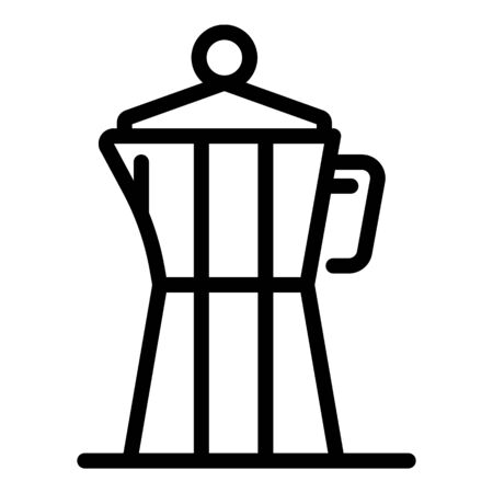 Steam coffee maker icon. Outline steam coffee maker vector icon for web design isolated on white background