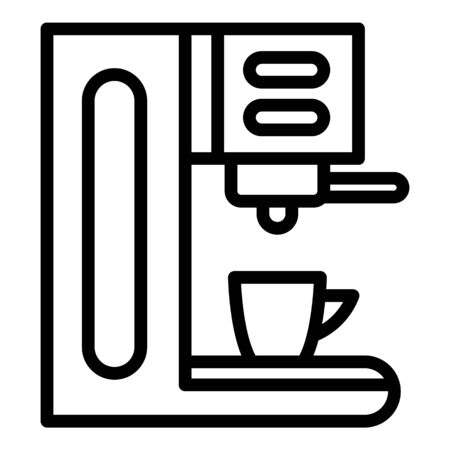 Office coffee machine icon, outline style Banque d'images - 130005825