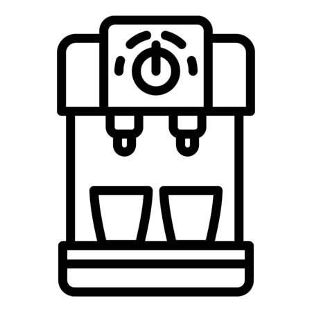 Compact coffee machine icon, outline style