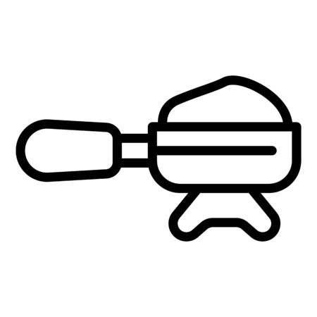 Coffee holder icon, outline style Illusztráció
