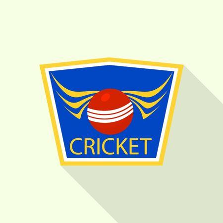 Cricket sport, flat style