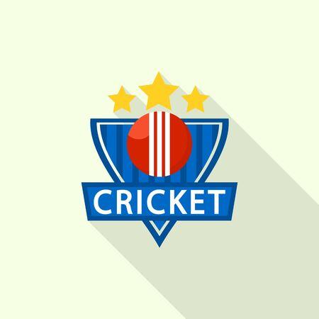 Gold star cricket  flat style  イラスト・ベクター素材