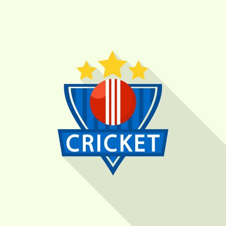 Gold star cricket  flat style Illustration