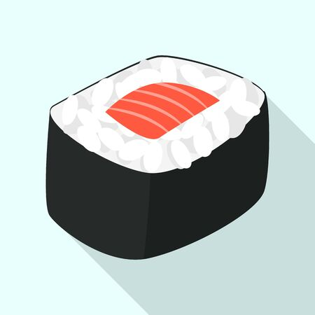 Sushi roll icon, flat style