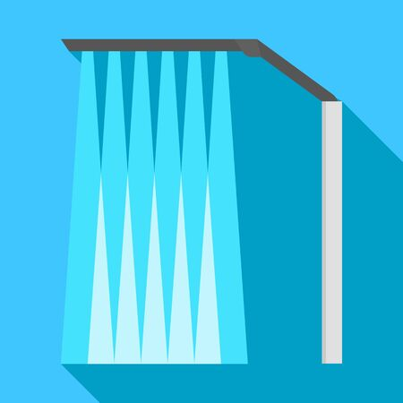 Stand car wash icon, flat style